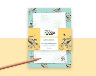 A6 Notepad-Cheeta on road bike
