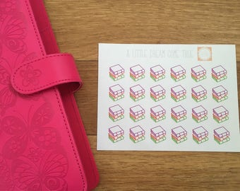 Stack Of Books Planner Stickers