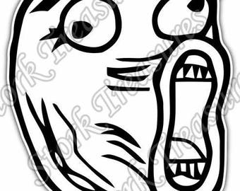 Internet Troll Face Trollface Trolling Car Bumper Vinyl Sticker Decal