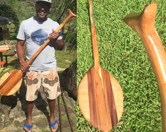 Hawaiian Canoe Paddle Made from Exotic Woods