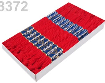 24 Docking Embroidery/stick twist #3372 Fire Red