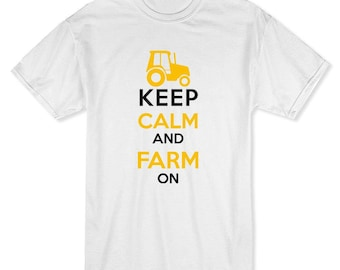 Keep Calm and Farm On Men's Purple T-shirt