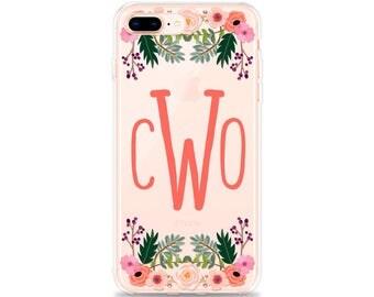 iPhone 8 Plus Case, MONOGRAM iPhone X Case, iPhone 8 Case, iPhone 7 Plus iPhone 6s Plus iPhone 6 Plus iPhone SE iPhone 7 Case iPhone 6s Case