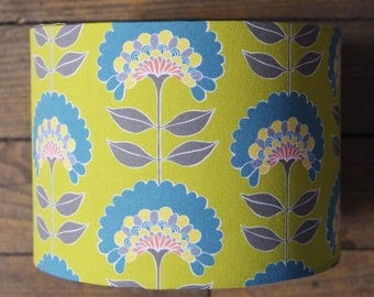 Lampshade vintage floral fabric