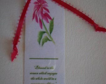 Pointsettia Bookmark