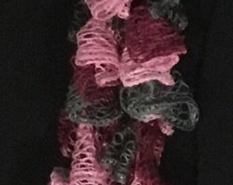 Ruffle scarf,petit,multi-pink
