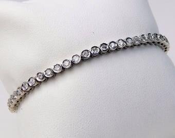 14k white gold 2 Ctw diamond tennis bracelet #10601