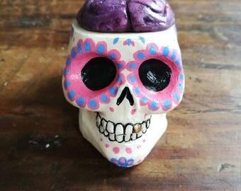 Pink Sugar Skull Brain Pot