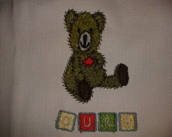 BEAR MACHINE embroidery (made to order)