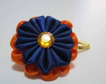 kanzashi flower tic-tac clip