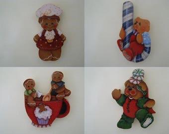 Choose magnet, gingerbread man, wooden