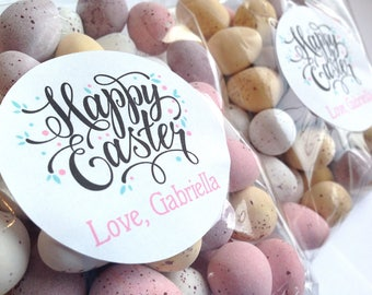 Easter Gift labels, Personalised easter stickers, Happy Easter Stickers, Happy Easter Labels, Easter stickers, Easter favour labels 254
