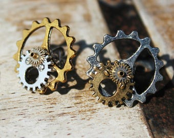 Steampunk Statment Earrings Studs