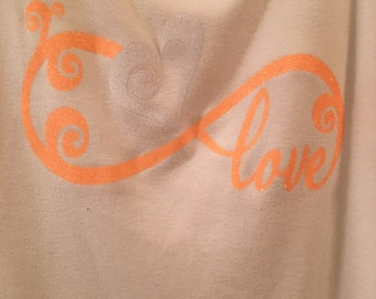 Love Infinity with Glitter