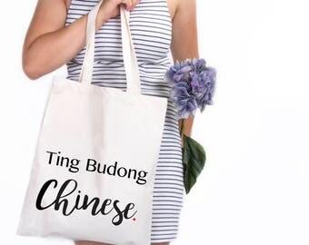 Ting budding tote bag