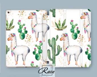Alpaca case Cute Alpaca Cactus Mexican alpaca Alpaca painting Cactus iPad case Lama case Colorful art iPad air 2 case iPad 2017 case iPad