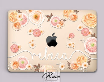 Floral MacBook cover Personalized laptop MacBook air 13 case 2016 MacBook pro 15 Custom MacBook a1502 hard case 11 inch laptop case clear in