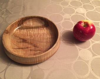 handmade curly maple bowl