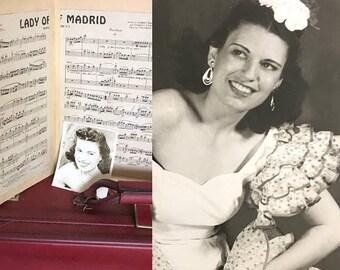 ON SALE FLAMENCO Set | Lita's Photographs | 1940s Vintage Black + White Photos of Entertainer/Dancer Lita Berlin |