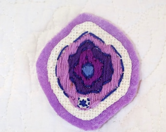 Embroidered Vulva/Vagina Patch
