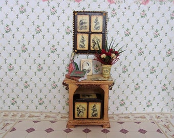 Puppet furniture and accessories. Dollhouse furniture. Scale 1:12