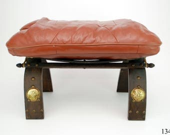 Camel Stool stool Egypt leather wood Brass