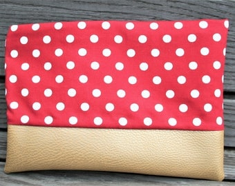 Make-up bag trousse de maquillage cosmetic make up bag, retro, vintage look that bag dots