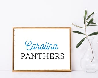 "Carolina Panthers Charlotte North Carolina Football Custom Print - 8"" X 10"" Printable Download Wall Art - Full Color"
