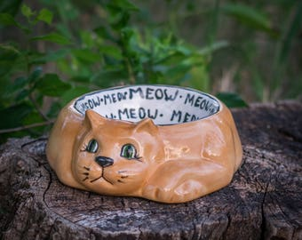 Kitty Cat Food Bowl
