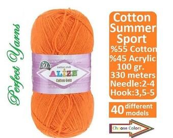 Alize yarn, Cotton Gold, Crochet yarn, knitting yarn, baby yarn, soft yarn, sport yarn, multicolor yarn, acrylic yarn, cotton yarn, turkish
