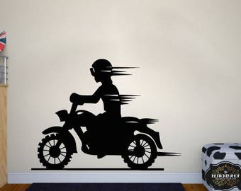 Wall Decal Motorcycle Decals Motorbike Decal Harley Wall Decal Harley  Davidson Wall Decal Motor Bike Vinyl Part 55