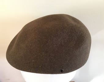 Vintage quality Pendleton brown virgin wool cabbie/newsboy/driver hat, adult size medium. Portland, Oregon USA