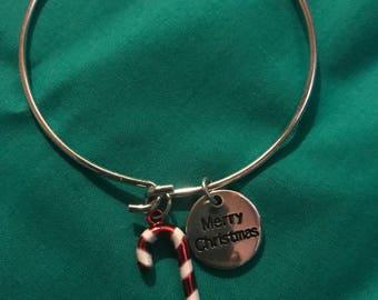 Christmas Bangle Bracelet