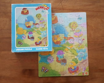 Nerful Puzzle 60 piece Parker Brothers Vintage 80s Made in Canada Retro Game Night