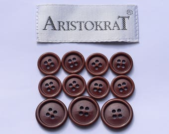 11 pcs Aristokrat brown 3 big and 8 small / 12 pcs Aristokrat black 4 big and 8 small
