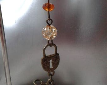 "Earrings ""padlock and key"""