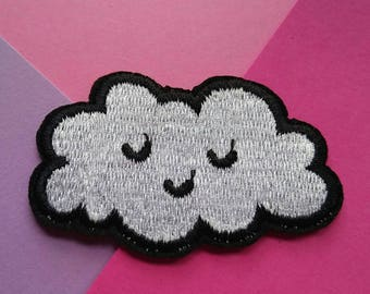 Cloud Iron On Patch/Clothing Patch/Applique/Embroidered Patch/Sewing Supplies/Jacket Patch/Kawaii/Funny Patch