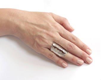 Chameleon silver ring