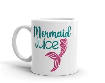 Mermaid Juice Mug, Mermaid tail coffee mug, Mermaid Coffee Mug, Mermaid Mug, Teal and Pink Mug, Double Sided Mug