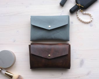 Small Leather Pouch, Leather Cosmetic Bag, Small Cosmetic Bag, Mini Makeup Bag, Make up Bag, Fragrance Bag, Perfume Bag, Leather Makeup Bag