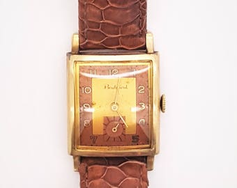 A 1940's vintage Boulevard 10k gold filled men's watch, mechanical winding