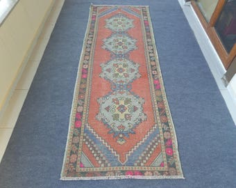 Turkish Oushak Runner, Oushak Runner Rug, Aisle Runner, Hallway Runner, Turkish Runner Rug, Kitchen Rug