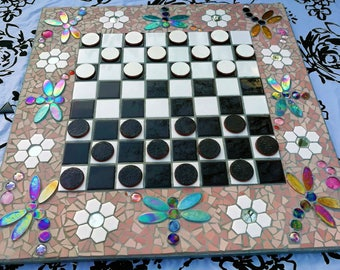 Large Dragonfly Chequer-Draught Board