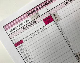 Sample. One Page Agenda, To-Do List, and Journal