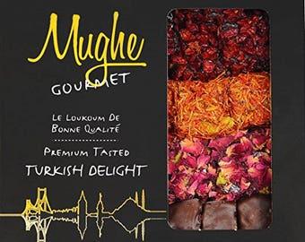 Luxury Assorted Turkish Delight Pistachio&Pomegranete Flavor(4 Varieties)20-25 PCS/16oz