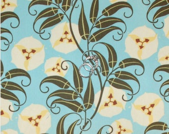 Fabric upholstery SATIN blue NIGELLA by AMY BUTLER
