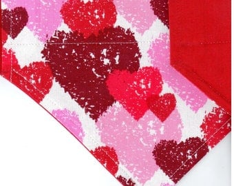 Etched Hearts  | Valentines Day Dog Bandana | Dog Bandana | Puppy Bandana | Pet Bandana | Over the Collar Bandana