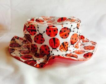 Ladybug rain hat