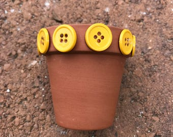 Darling Handmade Brand New Miniature 2 Inch Terra Cotta Pots