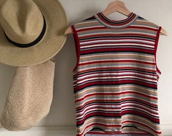 Vintage 90s Striped Knit Top